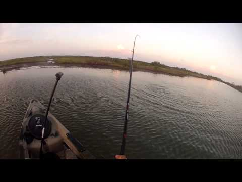 Redfish at sundown! - kayak fishing, kayak photos, kayak videos