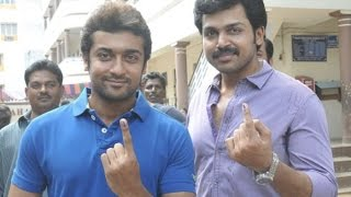 Karthi Liked to act with Surya in Anjaan!