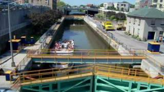 Lockport (NY) United States  City pictures : Erie Canal Descending Lock Through At Lockport NY USA - Part 1 of 2