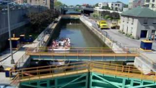 Lockport (NY) United States  city photos : Erie Canal Descending Lock Through At Lockport NY USA - Part 1 of 2