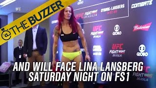 Cris Cyborg somehow dropped 25 pounds since Monday, made weight for UFC Fight Night 95 by @The Buzzer