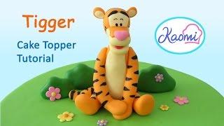 How to make a Tigger (Cake Topper)/ Cómo hacer a Tigger en pasta de goma
