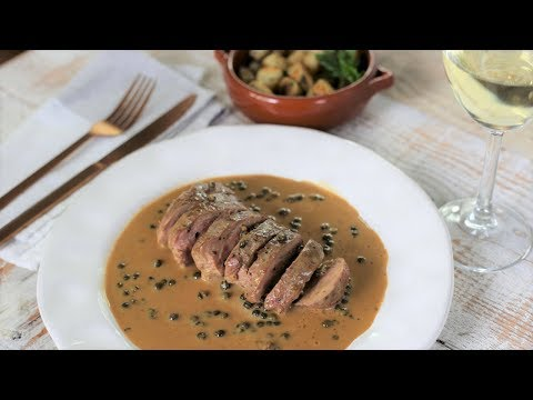 How To Make A French Bistros Style Peppercorn Sauce ( With Duck Breast)