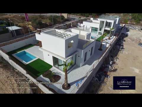 Villa at the Costa Blanca in the town of Polop. New high-tech house in Spain