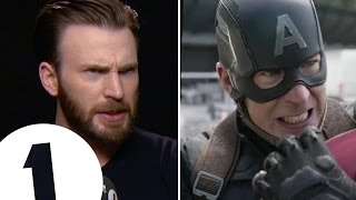 Chris Evans shows off Captain America's angry eyeball acting