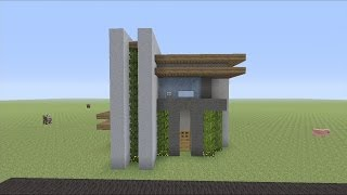 How to Build a Small Modern House in Minecraft (EASY)