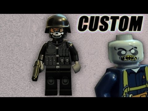 G.I. Brick CIA Operative, BrickArms and Zombie Load-out Pack Review - Custom Weapons