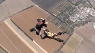 """This is a compilation of 13 jumps of 2-way skydiving. It was a training camp and a competition. Team """"Sparta"""" took second place..."""