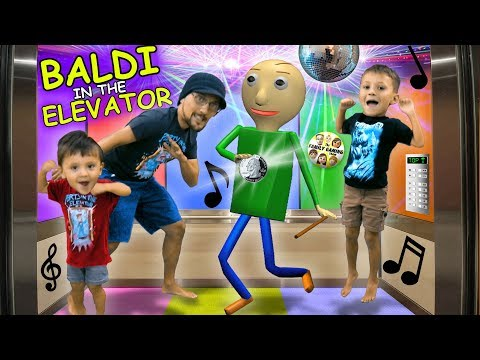 BALDI PARTY IN THE ELEVATOR + BALDI goes CAMPING w/ FGTEEV In Real Life & FNAF Ruins It!