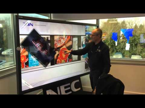 NEC x981uhd Display - Boomspace demo