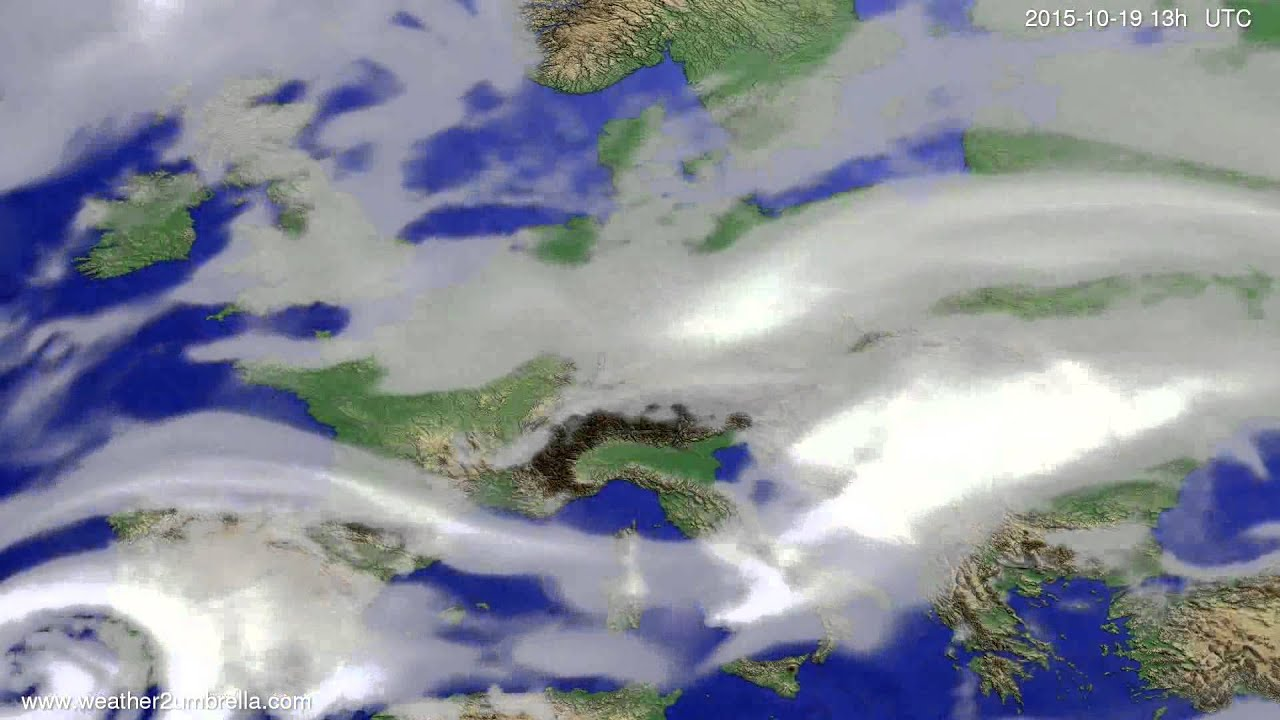 Cloud forecast Europe 2015-10-16