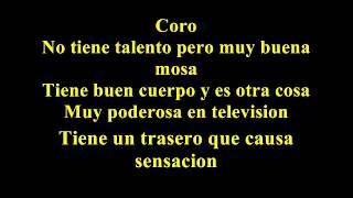 Willie Colon   Talento de television  Letra
