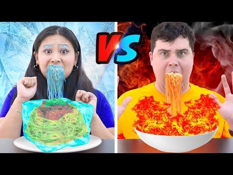 5 CRAZY PRANKS & CHALLENGES | FUNNY HOT VS COLD, FOOD CHALLENGE BY CRAFTY HACKS