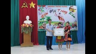 Đồng chí Nguyễn Văn Thành, Phó Chủ tịch UBND thành phố chúc mừng Tết trung thu thiếu niên nhi đồng phường Trưng Vương