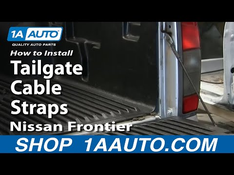 How To Install Replace Tailgate Cable Straps 1998-04 Nissan Frontier