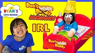 DON'T WAKE MOMMY IRL CHALLENGE Family Fun Games for Kids Egg Surprise Warheads Extreme Sour Candy