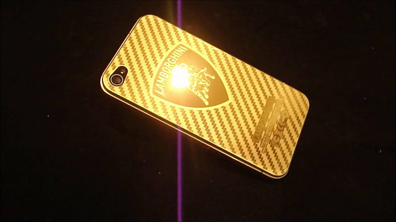real 24k gold plated iphone 4 rear lamborghini logo - Lamborghini Logo Wallpaper Iphone