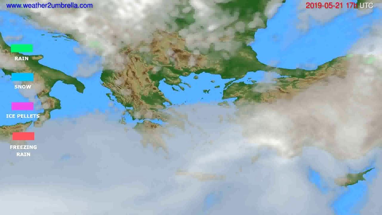 Precipitation forecast Greece // modelrun: 00h UTC 2019-05-20