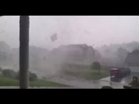 Tennessee Man Stands on Porch and Films Tornado 20 Feet Away Yesterday.