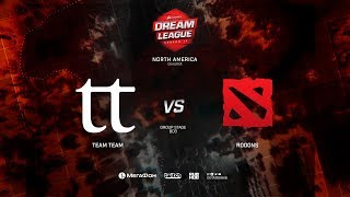 TeamTeam vs Rooons, DreamLeague Minor Qualifiers NA, bo1, game 1 [Mila & Inmate]