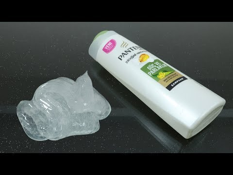 No Glue Clear Slime With Shampoo And Sugar, How To Make Clear Slime Only 2 Ingridients, No Borax