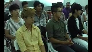 HIRUSCAR FACE  OF CAMBODIA FASHION WEEK 2013 PRESS CONFERENCE @ TV5