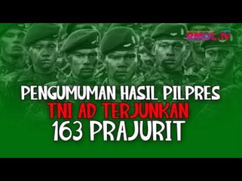 Pengumuman Hasil Pilpres, TNI Terjunkan 163 Ribu Prajurit