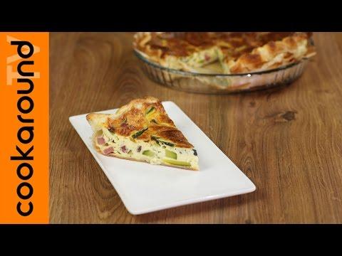 torta salata speck e zucchine - la videoricetta