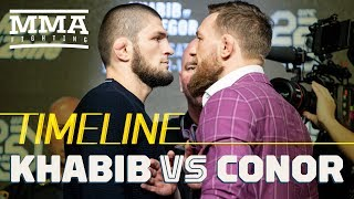 Video Khabib Nurmagomedov vs. Conor McGregor UFC 229 Timeline - MMA Fighting MP3, 3GP, MP4, WEBM, AVI, FLV Februari 2019