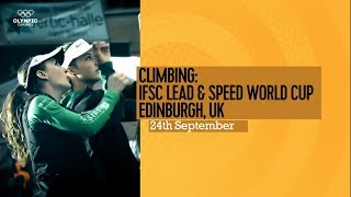 Upcoming Event Trailer - IFSC World Cup Edinburgh 2017 by International Federation of Sport Climbing