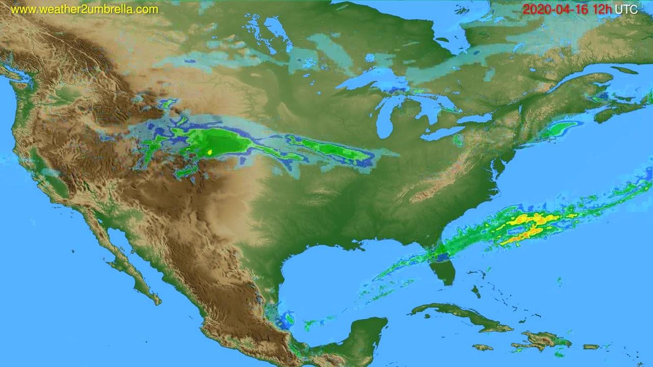 Radar forecast USA & Canada // modelrun: 00h UTC 2020-04-16