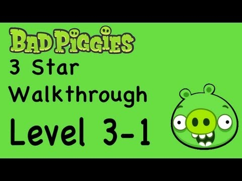 Bad Piggies - Level 3-1 3 Star Walkthrough When Pigs Fly | WikiGameGuides