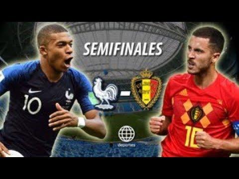 Francia vs Bélgica (1-0)-Semifinal// Copa Mundial de Fútbol_Partido 61-Simulacion.