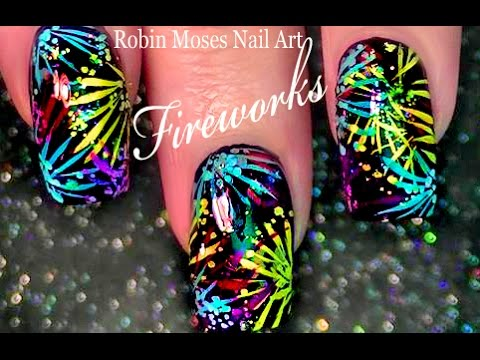 Firework Nail Art - 4th of July nails!!!