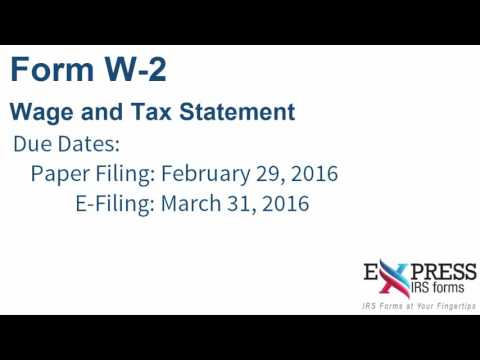E-file Form W-2 for Wages and Tax Statements