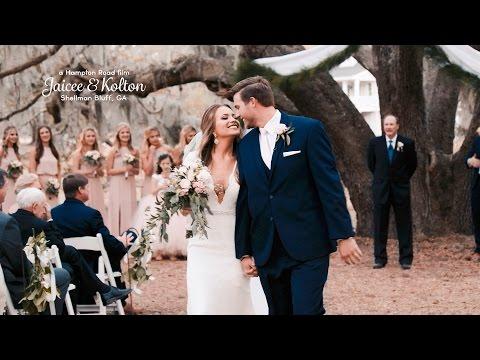 Jaicee & Kolton // Coastal Georgia Wedding (4K Wedding) (видео)