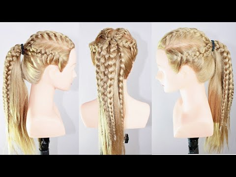 Hairstyles for long hair - braid hairstyle  hairstyle for long hair  hair style girl  ponytail