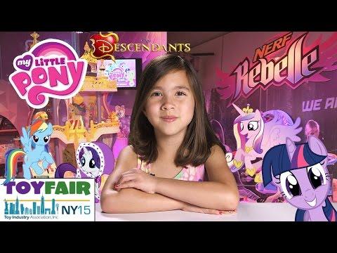 MY LITTLE PONY, Equestria Girls, NERF Rebelle, Disney's Descendants - New York TOY FAIR 2015