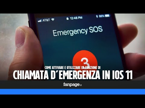 Attivare e utilizzare la chiamata di emergenza in iPhone
