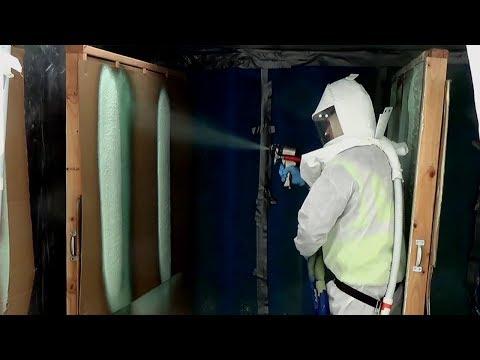 Contractors Spray New Demilec Wall Spray Foam Insulation