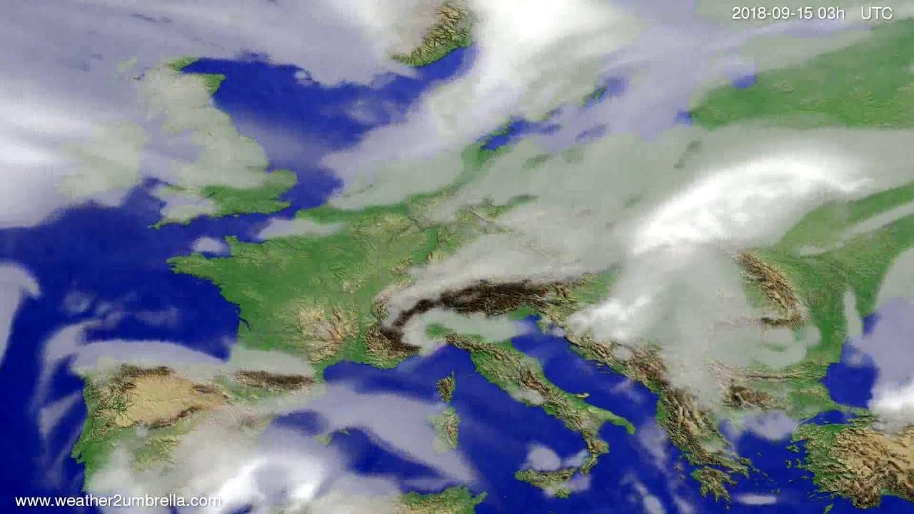 Cloud forecast Europe 2018-09-12