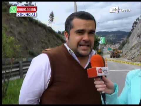 Deslizamiento en la autopista Cuenca-Azogues