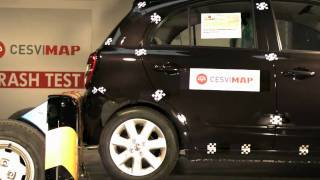 Crash test trasero Nissan Micra en CESVIMAP