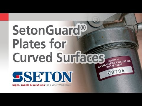 SetonGuard® Property ID Plates for Curved Surfaces | Seton Video