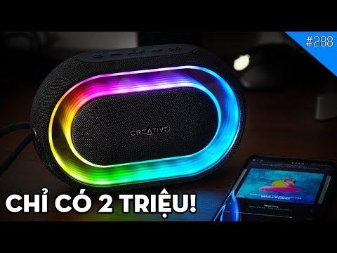 Trên tay loa di động Creative Halo có led RGB điều khiển bằng app trên smartphone!
