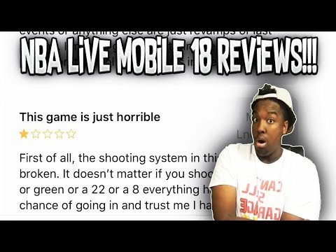 READING NBA LIVE MOBILE 18 REVIEWS!!! HOW DO I REALLY FEEL ABOUT THE GAME???