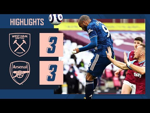 HIGHLIGHTS   Dramatic three-goal comeback!   West Ham vs Arsenal (3-3)   Premier League