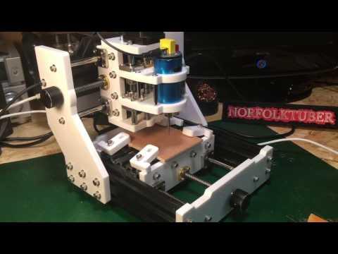 Cutting wood Gears On Diy Desktop CNC
