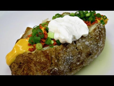 Classic Baked Potato - Steak House Style Salted Baked Potato Recipe - PoorMansGourmet