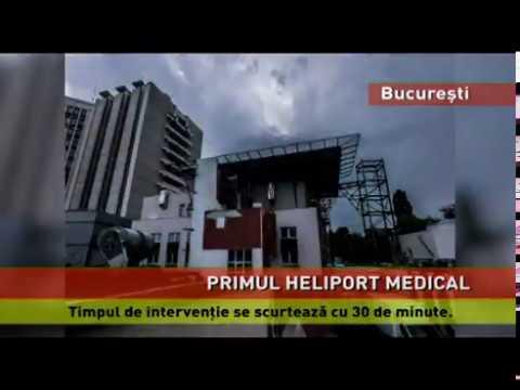 Heliport medical, la  Spitalul Universitar de Urgență
